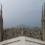 Blick vom Domdach über Mailand