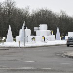 Schneedekoration ohne Schnee in Ludwigsburg